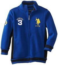 New-7 years old-U.S. Polo Assn. Little Boys Fleece Jacket Full Zip Blue USPA 3