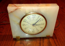 VINTAGE SESSIONS MARBLE ONYX TABLE CLOCK ELECTRIC