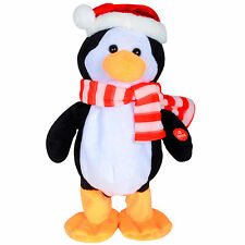 "30cm DANCING Penguin Natale Ornamento con ""Jingle Bells"" MUSICA"