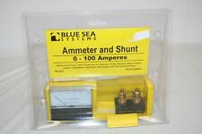 Blue Sea Systems 8017 DC Ammeter and Shunt 0-100 Amperes New