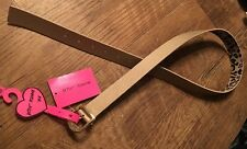 NWT Betsey Johnson Gold Leather  Belt W/ Gold Metal Buckle Size M