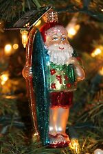 *Surfer Santa* Ocean Surf [40060] Old World Christmas Glass Ornament - NEW
