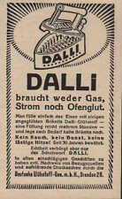 DRESDEN, Werbung / Anzeige 1925, Deutsche Glühstoff-Ges. mbH DALLI Bügeleisen
