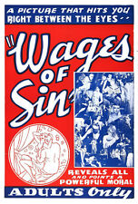 "Wages of Sin Movie Poster Replica 13x19"" Photo Print"