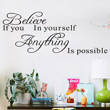 Removable Wall Decal Stickers Vinyl Art Quote Bedroom Mural DIY Home Rooms Decor