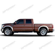 For: FORD F250 SUPERCREW CAB; Body Side Mouldings Molding CHROME ABS 2015-2016