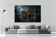 Fantasy  Landscapes Snail Steampunk Art Escargot  Poster Grand format A0