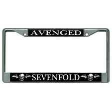 avenged sevenfold music band popular culture license plate frame made in usa