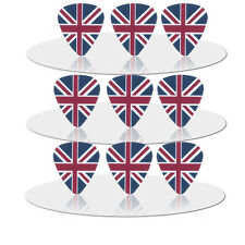 10pcs 0.71mm THE FLAG of UK Guitar Picks Plectrums Printed Both Sides