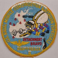RARE 1957 USN Navy Seabees Patch Antarctica Operation Deep Freeze II Detachment