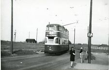 6D297 RP 1950s LIVERPOOL TRAMWAYS BUS CAR #268 SILLMOSS TERMINUS UK