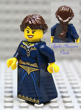 NEW Lego Dark Blue Pirate FEMALE MINIFIG Castle Kingdom Princess Brown Hair Girl