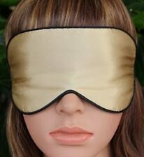 NEW! Royal Gold Sleep Eye Masks, Comfortable, Natural Silk, Ultra Soft & Light