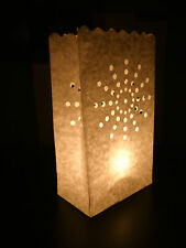 10 TEA LIGHT CANDLE LANTERN BAGS/BAG-WEDDING/BBQ/PARTY/BIRTHDAY CELEBRATIONS