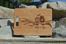 Personalized Cutting Board, Cute OWl Cutting Board,Laser engraved cutting board