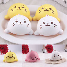 Cute Expression Cat Ball Squishy Soft Bread Cell phone Straps Bun Key Chains Hot