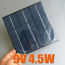 9V 4.5W 5W 500mA Mini poly solar Panel small solar cell PV module for DIY Kits