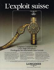 PUBLICITE  1988   LONGINES  montres  CONQUEST VHP