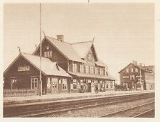 G0146 Norway - Une station en Laponie - Stampa d'epoca - 1923 Old print