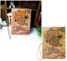 World Trip Map PU Identity Card Passport Holder Protect Cover Travel Journey PAT