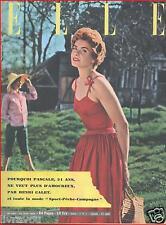 ▬►Elle 444 de 1954 Marie Daems_Line Renaud_Jean Nohain_Mode Fashion Vintage