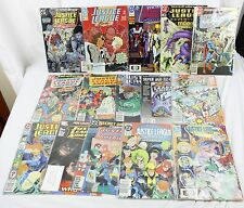Lot of 15 DC Comics Justice League Of America And Europe In Plastic Sleeves