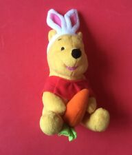 """SOFT TOY. WINNIE THE POOH  DRESSED AS A RABBIT  Fisher  Price 8.5"""" Tall"""