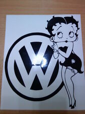 vw betty boop vinyl car sticker fun girls graphics decal beetle polo golf rline