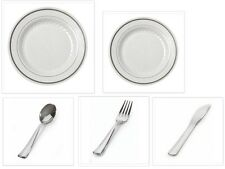 China-like Disposable Plastic Plates + Cutlery Set 500+ Pieces Wedding Reception