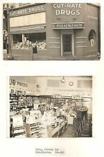 4 Snapshot Photos of Cut Rate Drug Store in Pendleton OR 1938-39