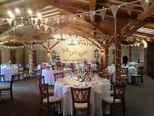 HESSIAN & LACE BUNTING 120ft  RUSTIC SHABBY CHIC `~~~BARGAIN~~~~
