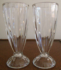 Old Fashioned Soda Fountain Glass Milkshake Glasses Beveled Diner Ice Cream