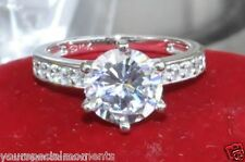 Solid 14k Yellow or White Gold Man Made Diamond Engagement Ring 5 6 7 8 9 10