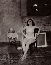 1912 Vintage New Orleans FEMALE PROSTITUTE ~ Louisiana Photo Art By E.J. BELLOCQ