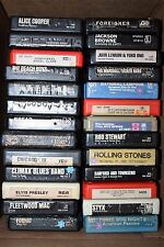 8 TRACK TAPE LOT OF 26  TESTED  TAPES - MOSTLY ROCK