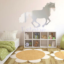 Modern Horse Mirror Style Removable Decal Vinyl DIY Art Wall Sticker Home Decor