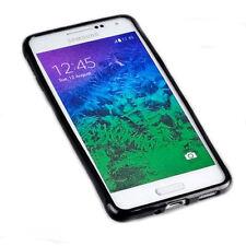 Dark Case Silikon TPU Handy Cover Hülle Schale  Schwarz für Samsung Galaxy Alpha