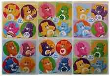 "80 Care Bears Mini Stickers, 1.2"" Round Each, Party Favors"