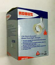 ROBUS RF101-03 Fire Rated 12v MR16 Chrome Bezel Straight Low Voltage