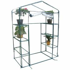 Walk In Greenhouse Garden Grow House Shelving Frame PVC Cover Plants Outdoor