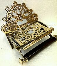 Victorian Toilet Roll Holder Solid Brass