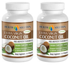 New Unique Supplement Coconut Oil Extra Virgin 3000mg  (2 Bottles)