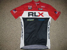 RLX Polo Sport Rock Shox World Cup MTN Bike Team Mens Cycling Jersey L Bicycle