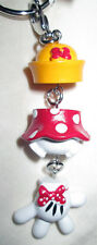 Disney Parks Minnie Mouse Hat Body Glove Dangle Keychain Clip - NEW