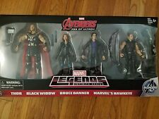 MARVEL LEGENDS AMAZON EXCLUSIVE AVENGERS: THOR BLACK WIDOW BRUCE BANNER HAWKEYE