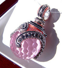 SALE !  FABULOUS RUSSIAN PENDANT MADE OF STERLING SILVER 925 WITH PINK TOPAZ