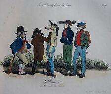 GRANDVILLE . Les Métamorphoses Jour.Pl.19, 1ERE EDITION HORS-TEXTE, CHEZ BULLA