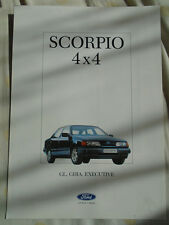 Ford Scorpio 4x4 brochure Feb 1988 French text