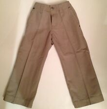 NWT LACOSTE Boys Croc Khaki Tan Slacks Brown Chino Jeans Pants 4 4T TWINS