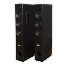 Acoustic Audio TSi350 Bluetooth Powered Floorstanding Tower Home Speaker Pair